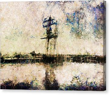 Canvas Print featuring the photograph A Gallant Ship by Claire Bull
