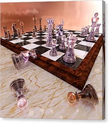A Game Of Chess Canvas Print by Bonnie Phantasm