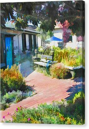 A Garden In Harmony Canvas Print by Elaine Plesser