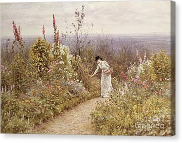 A Garden In October, Aldworth, 1891 Canvas Print
