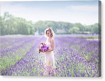 Young Lady Canvas Print - A Garden Of Delights by Evelina Kremsdorf