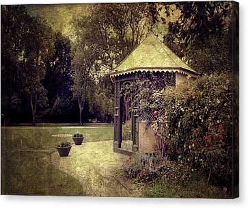 Canvas Print featuring the digital art A Garden Somewhere by Margaret Hormann Bfa