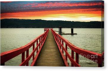 A Gentle Evening Canvas Print by Rod Jellison
