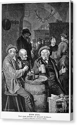 A German Tavern Canvas Print by Granger