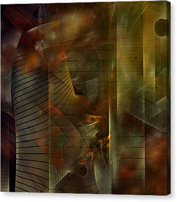 Canvas Print featuring the digital art A Ghost In The Machine by NirvanaBlues