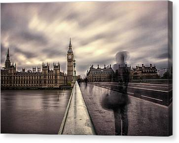 A Ghostly Figure Canvas Print by Martin Newman