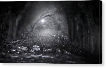 Beauty Mark Canvas Print - A Giant In The Forest by Mark Andrew Thomas