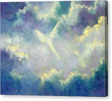 Canvas Print featuring the painting A Gift From Heaven by Marina Petro