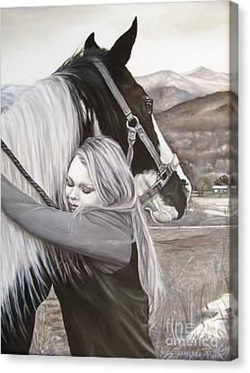 A Girls Best Friend Canvas Print
