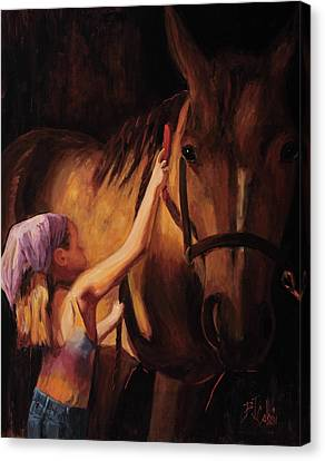 Western Canvas Print - A Girls First Love by Billie Colson