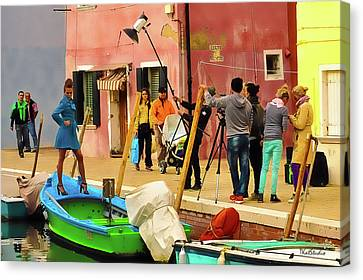 A Glamour Shoot In Burano Canvas Print