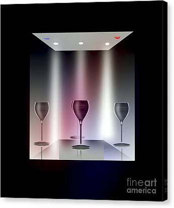 Glass Table Reflection Canvas Print - A Glass Act by Peter McHallam