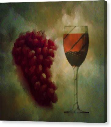 A Glass Of Red Wine Canvas Print by Bill Cannon