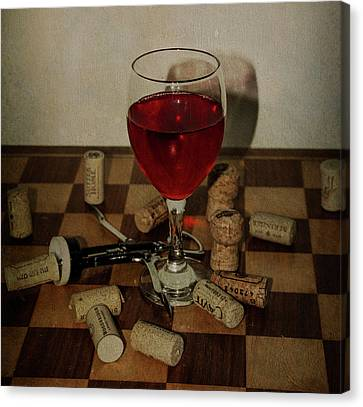 A Glass Of Wine Canvas Print by Bill Cannon