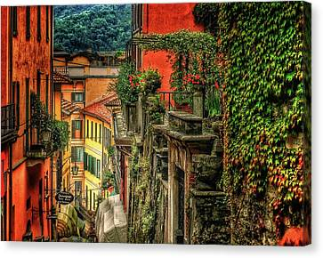 Sienna Italy Canvas Print - A Glimpse Of Bellagio by Connie Handscomb