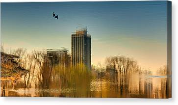A Glimpse Of Chicago Canvas Print by Nikolyn McDonald
