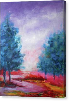 Canvas Print featuring the painting A Glorious Day by Karin Eisermann