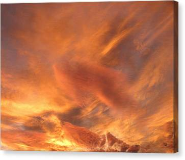 A Glorious Evening Sky Canvas Print by Will Borden