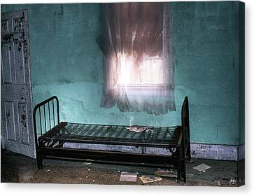 Canvas Print featuring the photograph A Glow Where She Slept by Wayne King