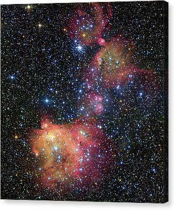 Canvas Print featuring the photograph A Glowing Gas Cloud In The Large Magellanic Cloud by Eso