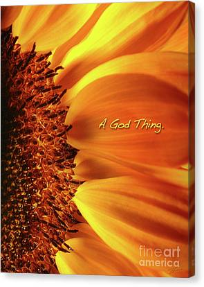 Canvas Print featuring the photograph A God Thing-2 by Shevon Johnson