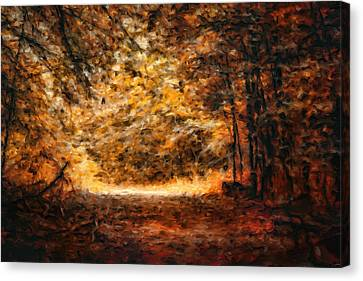 A Golden Journey Canvas Print