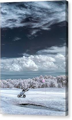 Canvas Print featuring the photograph A Golf Course In Infrared by Guy Whiteley