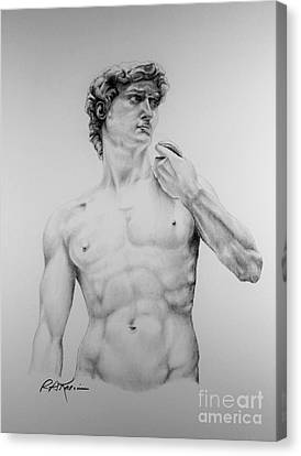A Goliath Of A David Canvas Print by Roy Anthony Kaelin