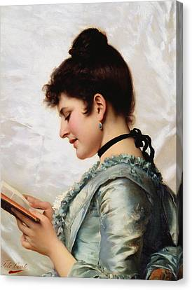 A Good Book Canvas Print by Tito Conti