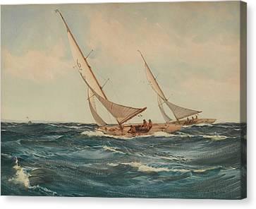 A Good Breeze Canvas Print by Montague Dawson