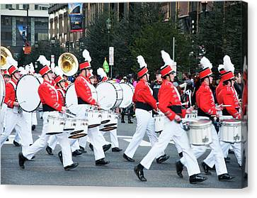 Marching Band Canvas Print - A Good Day For A Parade by Bill Cannon