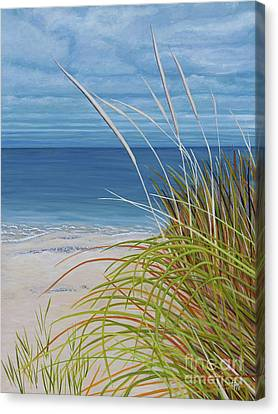 A Good Day For Beachcombing Canvas Print by Barbara McMahon