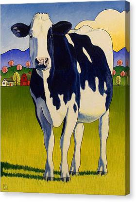A Good Looking Cow Canvas Print by Stacey Neumiller