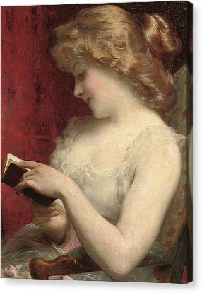 A Good Read Canvas Print by Etienne Adolphe Piot