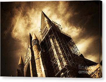 A Gothic Construction Canvas Print by Jorgo Photography - Wall Art Gallery