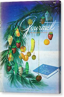 Bough Canvas Print - A Gourmet Cover Of Marzipan Fruit by Henry Stahlhut