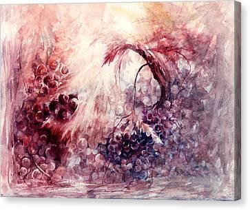 A Grape Fairy Tale Canvas Print by Rachel Christine Nowicki