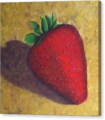 A Great Big Strawberry Canvas Print by Helen Eaton