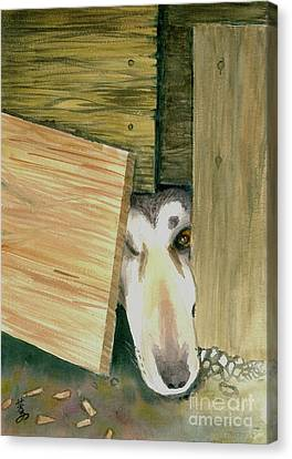 Canvas Print featuring the painting A Great Escape  -variation 2 by Yoshiko Mishina