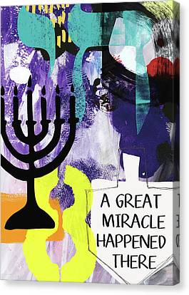 A Great Miracle- Art By Linda Woods Canvas Print by Linda Woods