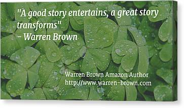 A Great Story Canvas Print by Warren Brown