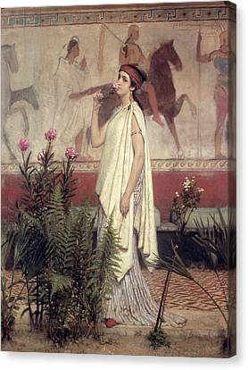 A Greek Woman Canvas Print by Sir Lawrence Alma-Tadema