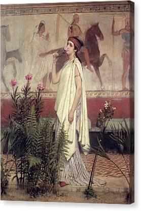 A Greek Woman Canvas Print by Sir Lawrence Alma-Tadema
