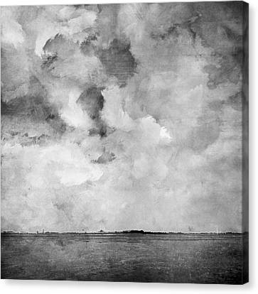 A Grey Day At The Sea Canvas Print by Steve K