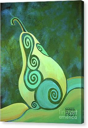 A Groovy Little Pear Canvas Print