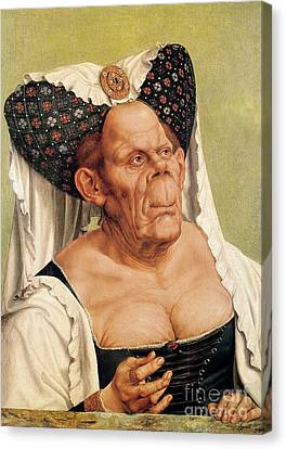 A Grotesque Old Woman Canvas Print