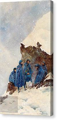 A Group Of First World War Chasseurs Canvas Print by MotionAge Designs