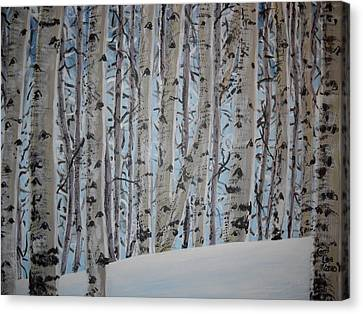 A Grove Of Aspens Canvas Print