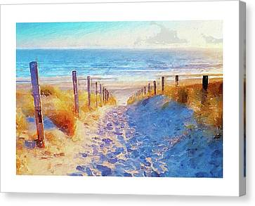 A Happy Day In Summer Canvas Print by Art Dreams