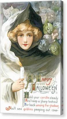 A Happy Halloween Canvas Print by Unknown